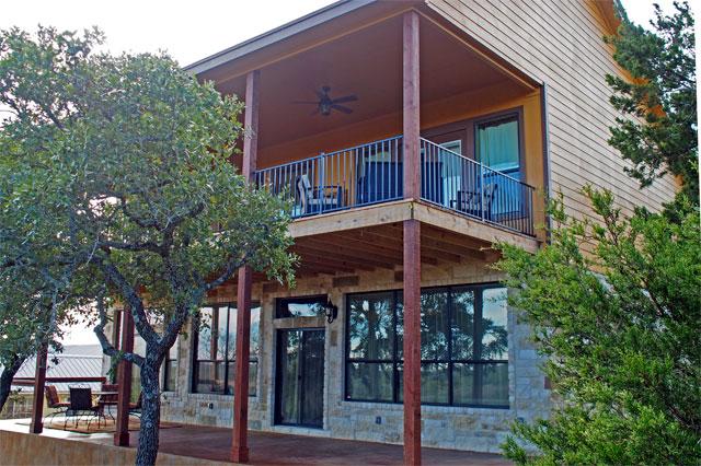 custom home with two full length decks